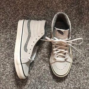 Vans New Sk8-Hi WhiteSuede Sneakers Wmn Size 6